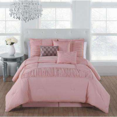 Jules 7-Piece Rose Cloud King Comforter Set - 14-1313 TPX