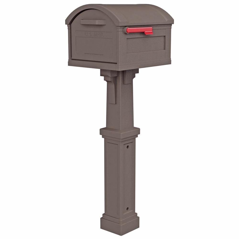 Gibraltar Mailboxes GHP40W01 Grand Haven Decorative Plastic Post White