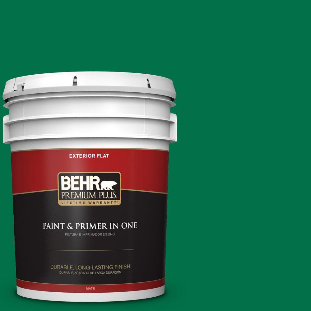 BEHR Premium Plus 5-gal. #470B-7 Climbing Ivy Flat Exterior Paint