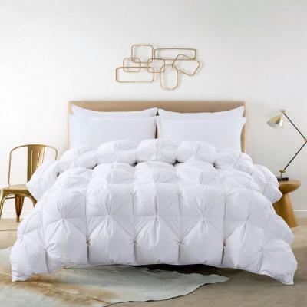 Pintuck Stitch All Season White Full/Queen White Duck Down Comforter