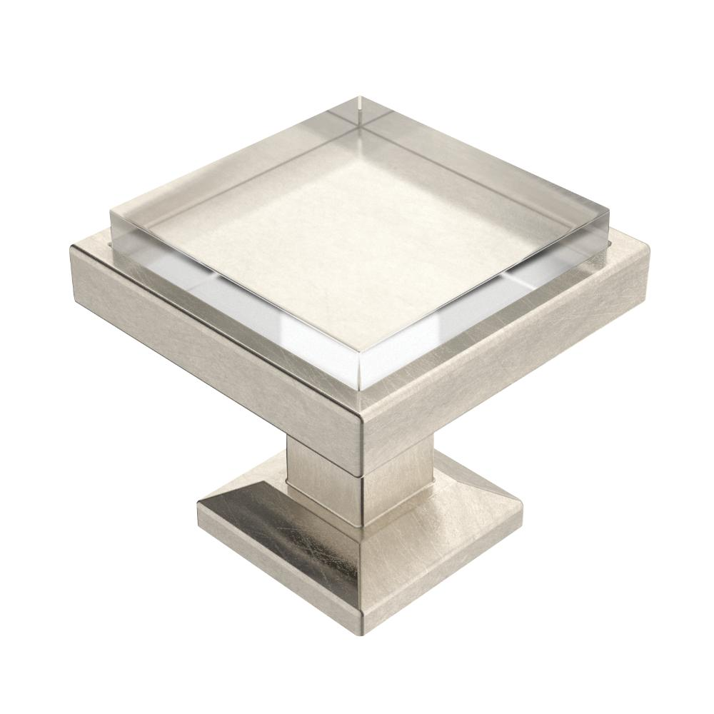 Square glass cabinet knobs s for Square kitchen cabinet knobs