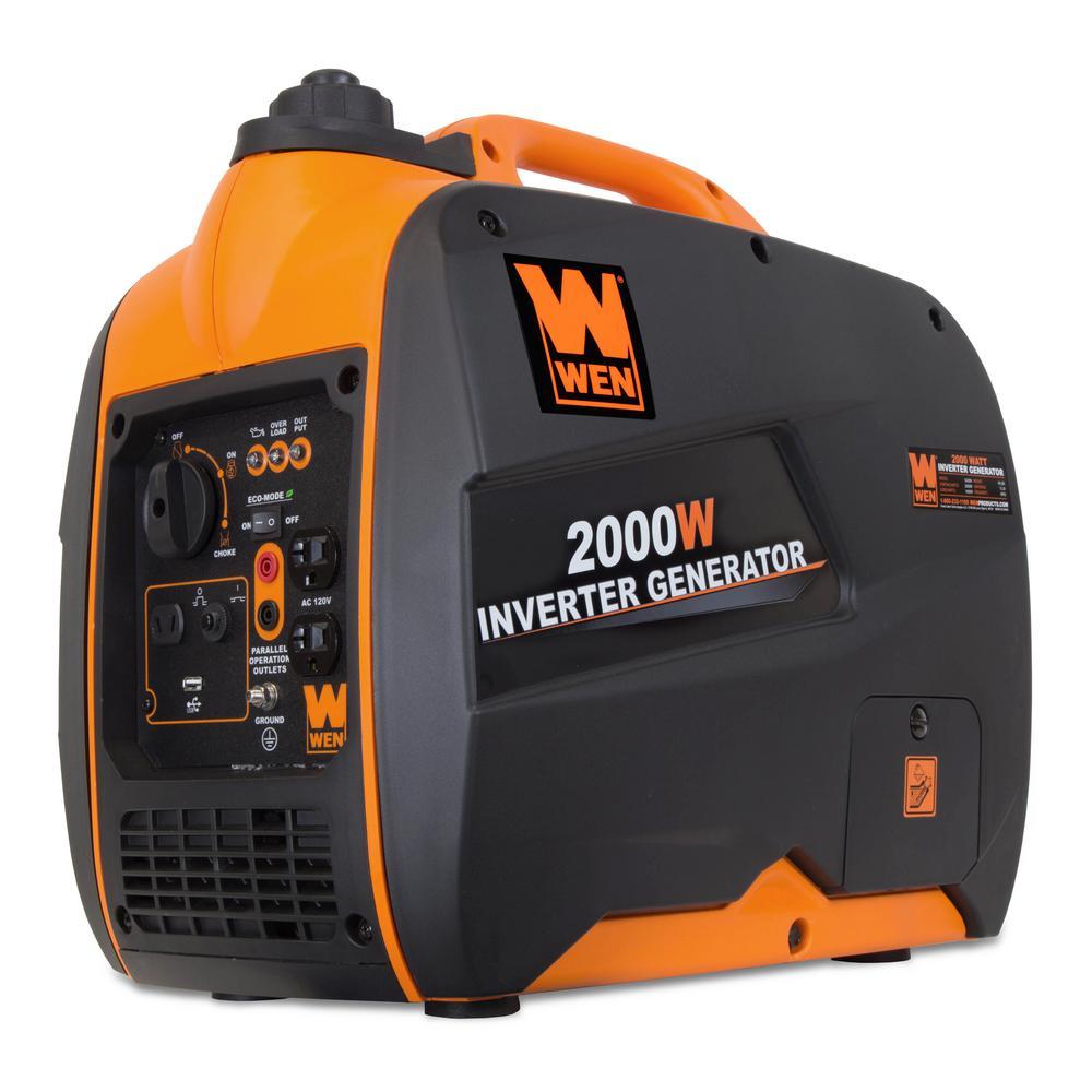 WEN 56200i 2000-Watt 79.7cc OHV 4-Stroke Gas-Powered Portable Inverter Generator (CARB Compliant)