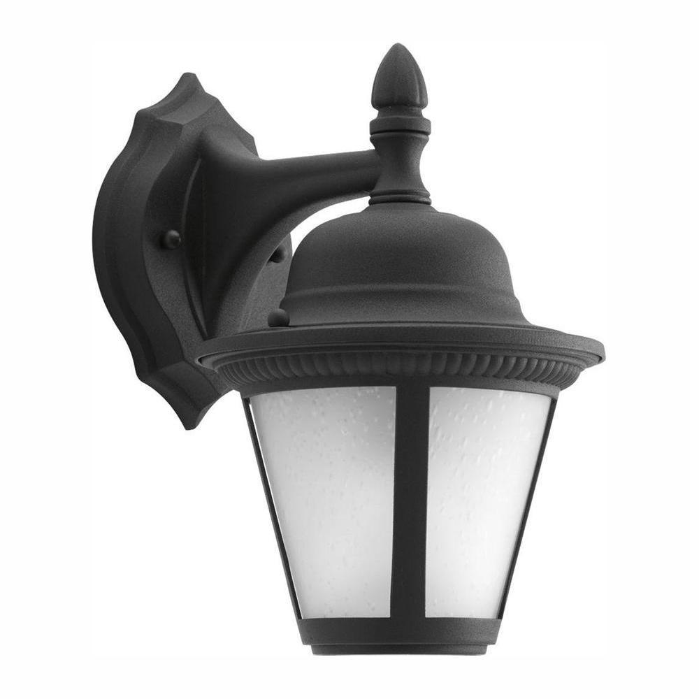 Progress Lighting Westport Collection 1-Light 10.25 in. Outdoor Black LED Wall Lantern Sconce