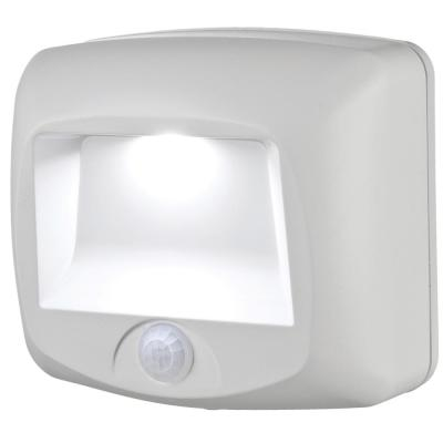 Outdoor 35 Lumen Battery Powered Motion Activated Integrated LED Step/Deck/Stair Light, White