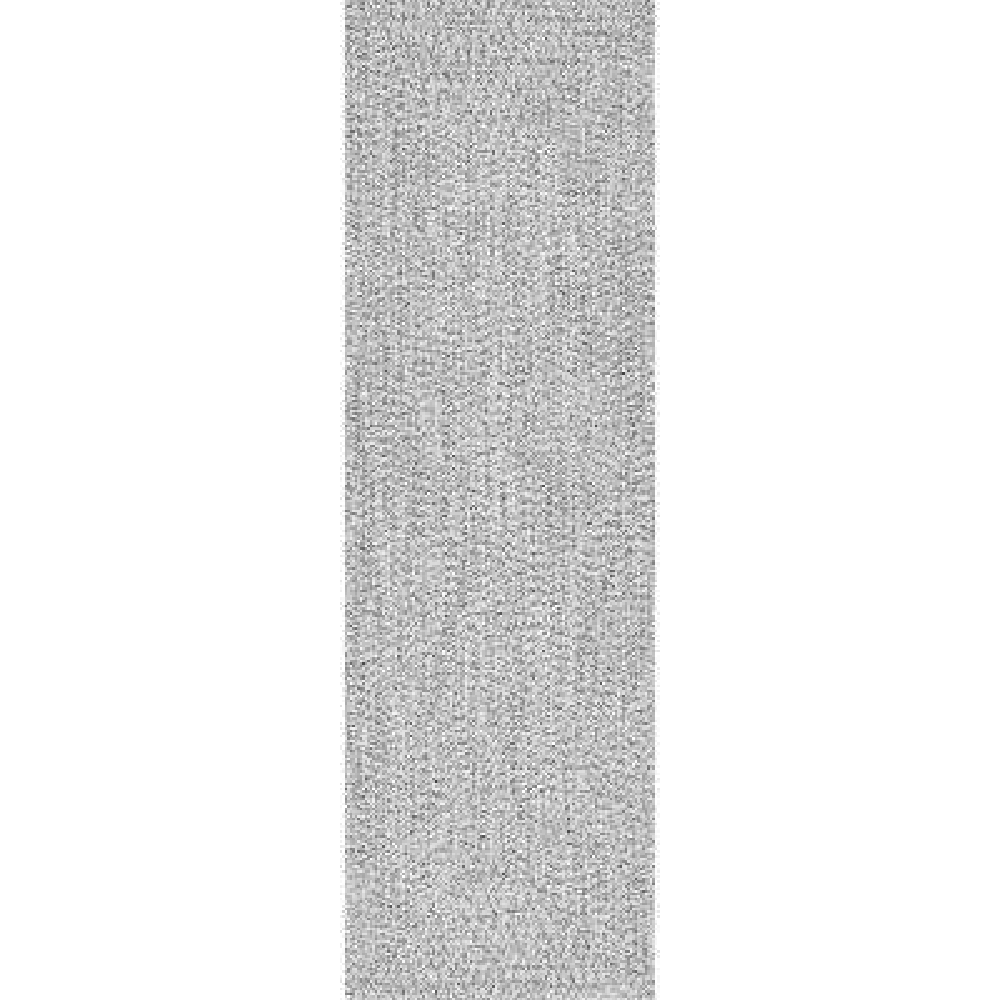 Braided Lefebvre Salt and Pepper Indoor/Outdoor 2 ft. 6 in. x 8 ft. Runner