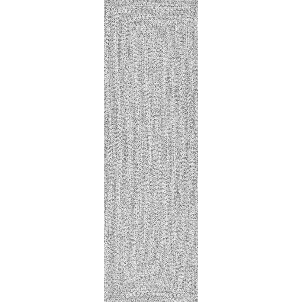 Nuloom Lefebvre Casual Braided Salt Amp Pepper 3 Ft X 8 Ft