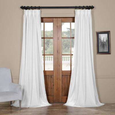 Blackout Signature Off White Pleated - 25 in. W x 84 in. L (1 Panel)