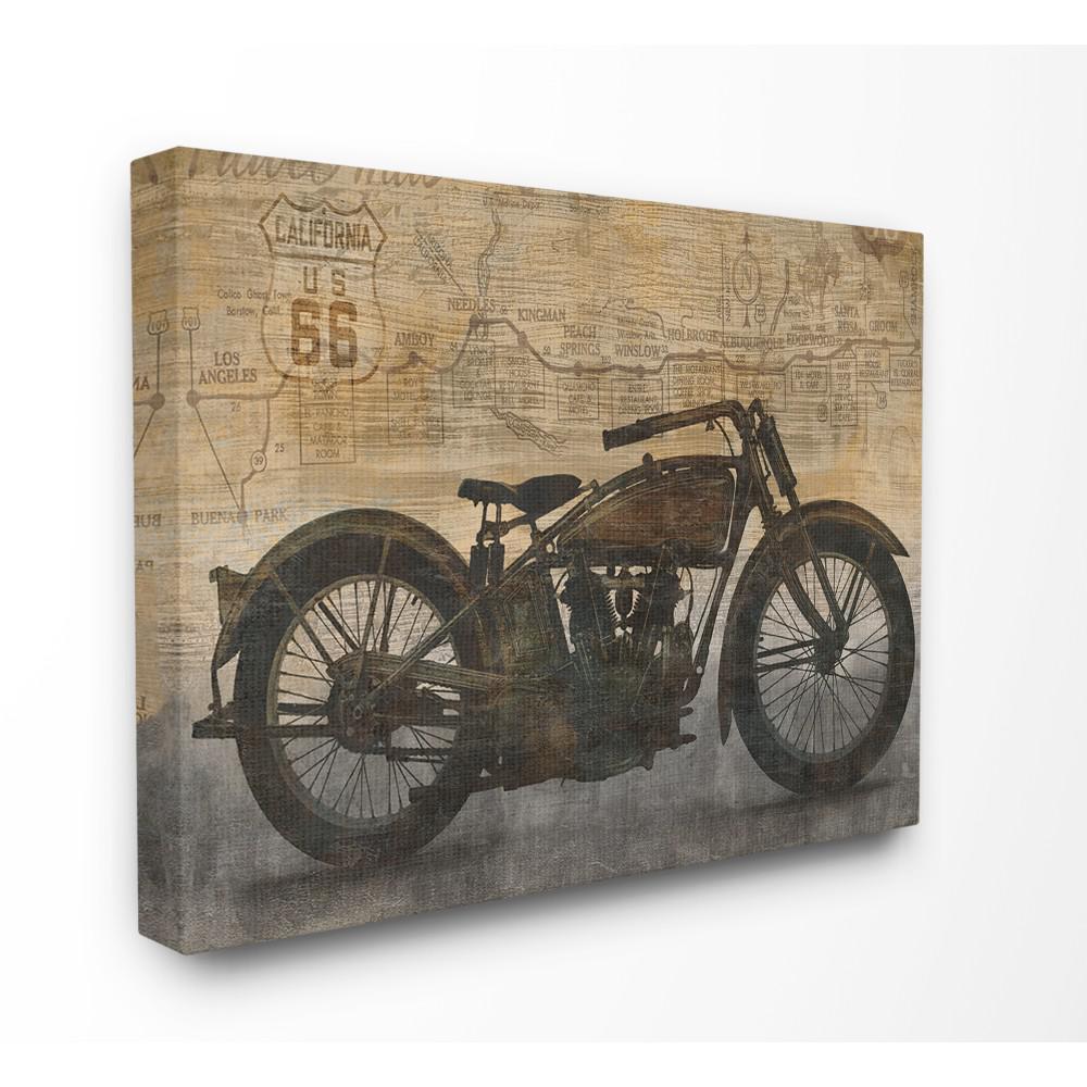 16x20 Skulls and Black Motorcycle Wall Decor Art Print Poster