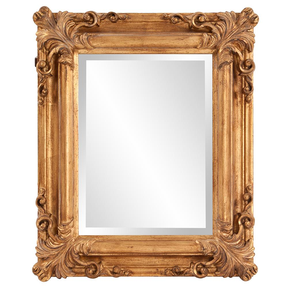 23 in. x 19 in. Bright Gold Rectangle Wood Framed Mirror-56007 - The ...
