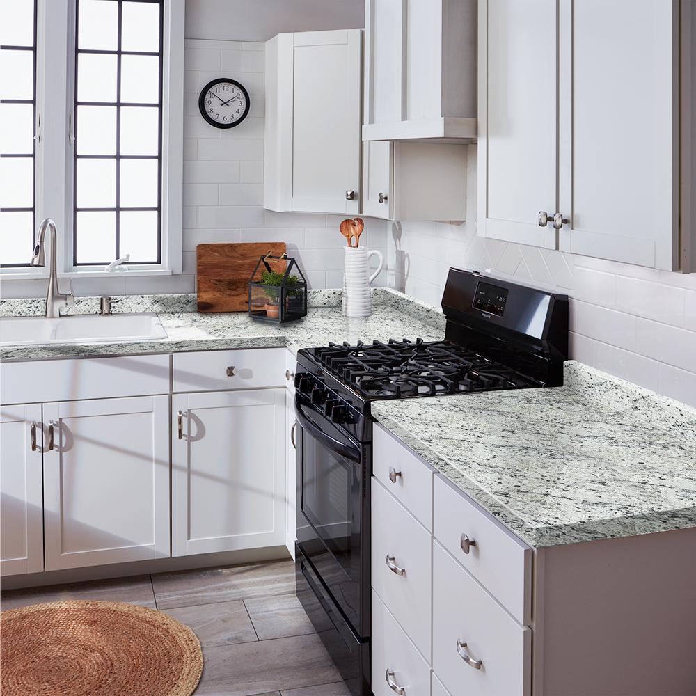 - Hampton Bay 4-1/2 In. X 25-3/4 In. Laminate Endsplash Kit In White Ice  Granite With Ora Edge-016949119999476 - The Home Depot