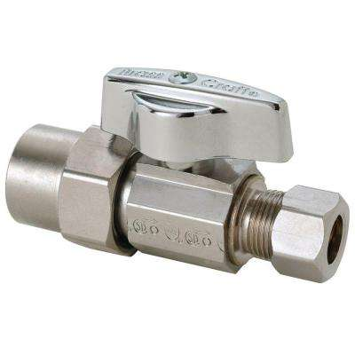 1/2 in. Nom CPVC Inlet x 3/8 in. O.D. Comp Outlet 1/4-Turn Straight Ball Valve