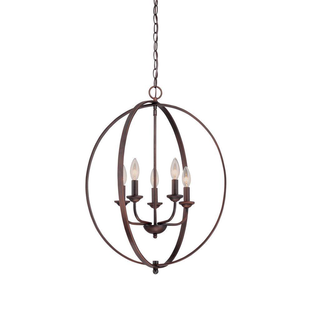 Millennium Lighting 5-Light Rubbed Bronze Candle Pendant