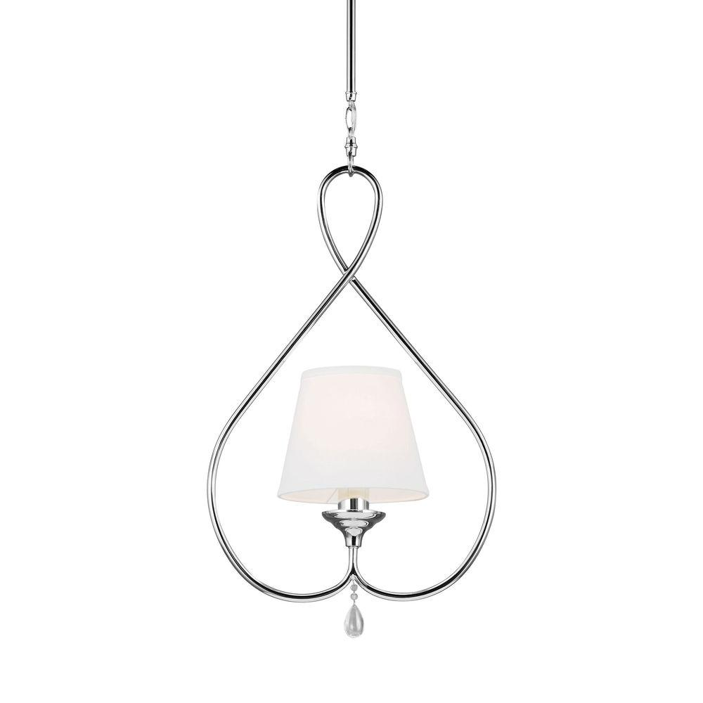 Sea Gull Lighting West Town 1 Light Chrome Mini Pendant