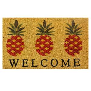 Home & More Pineapple Welcome Door Mat 17 inch x 29 in. by Home & More