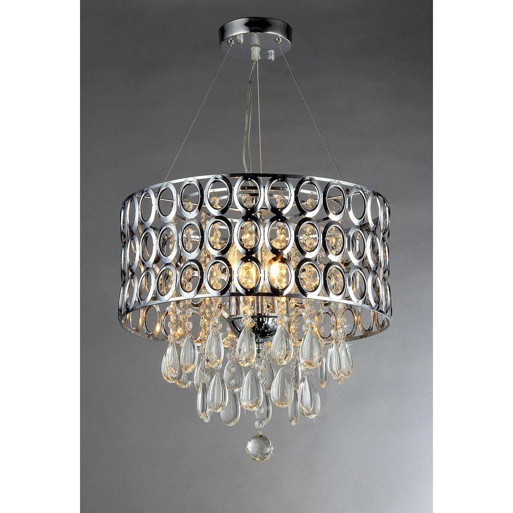 Warehouse of Tiffany Antoinette 3-Light Chrome Crystal In...