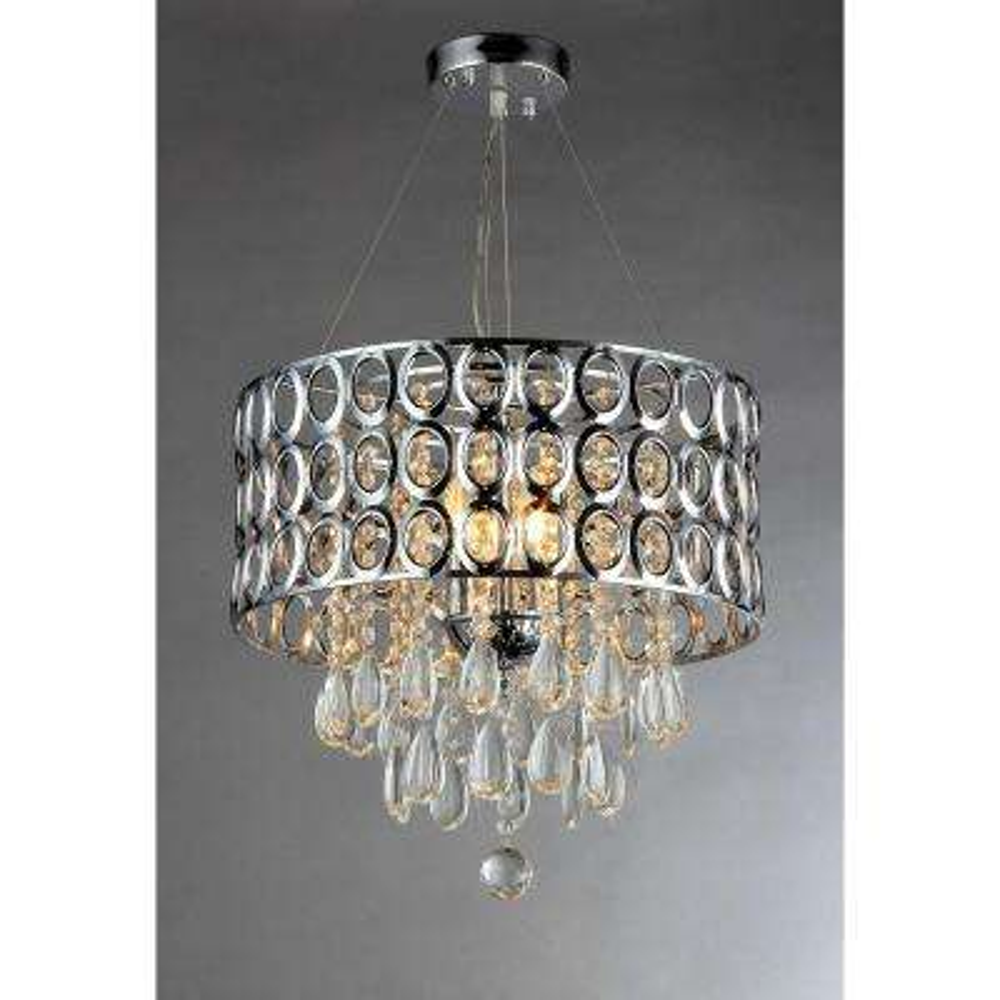 Antoinette 3-Light Chrome Crystal Indoor Chandelier