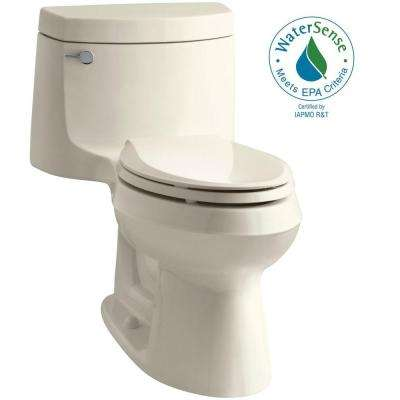 Cimarron 1-piece 1.28 GPF Single Flush Elongated Toilet with AquaPiston Flush Technology in Almond, Seat Included