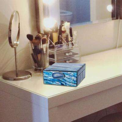 Space Efficient Blue Jewellery Boxes (Set of 2)