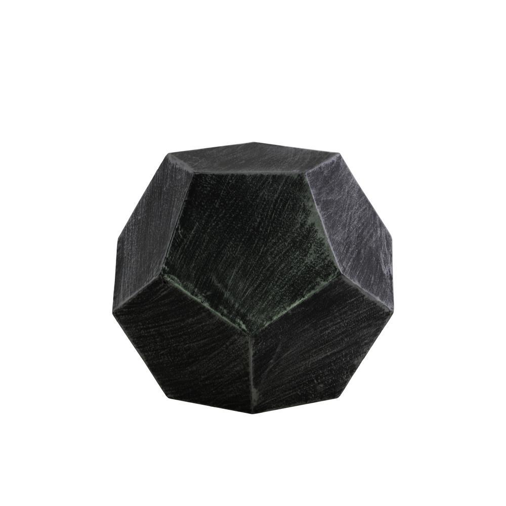 Black Coated Finish Metal Decorative Vase