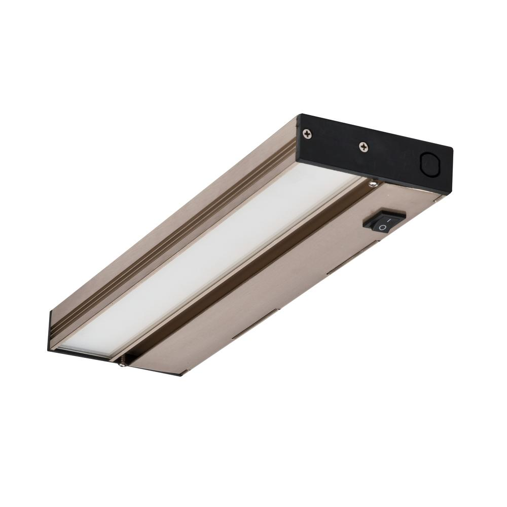 NUC 12 in. LED Nickel Dimmable Under Cabinet Light for Hardwire