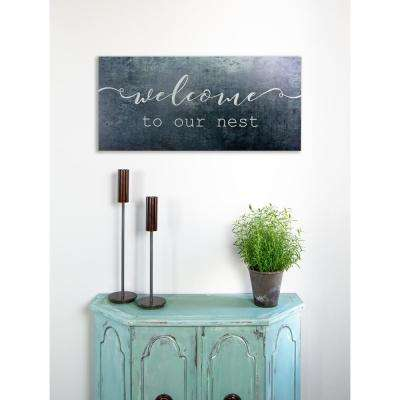 "32 in. W x 20 in. H ""Welcome To Our Nest"" by JLB Printed Wall Art"