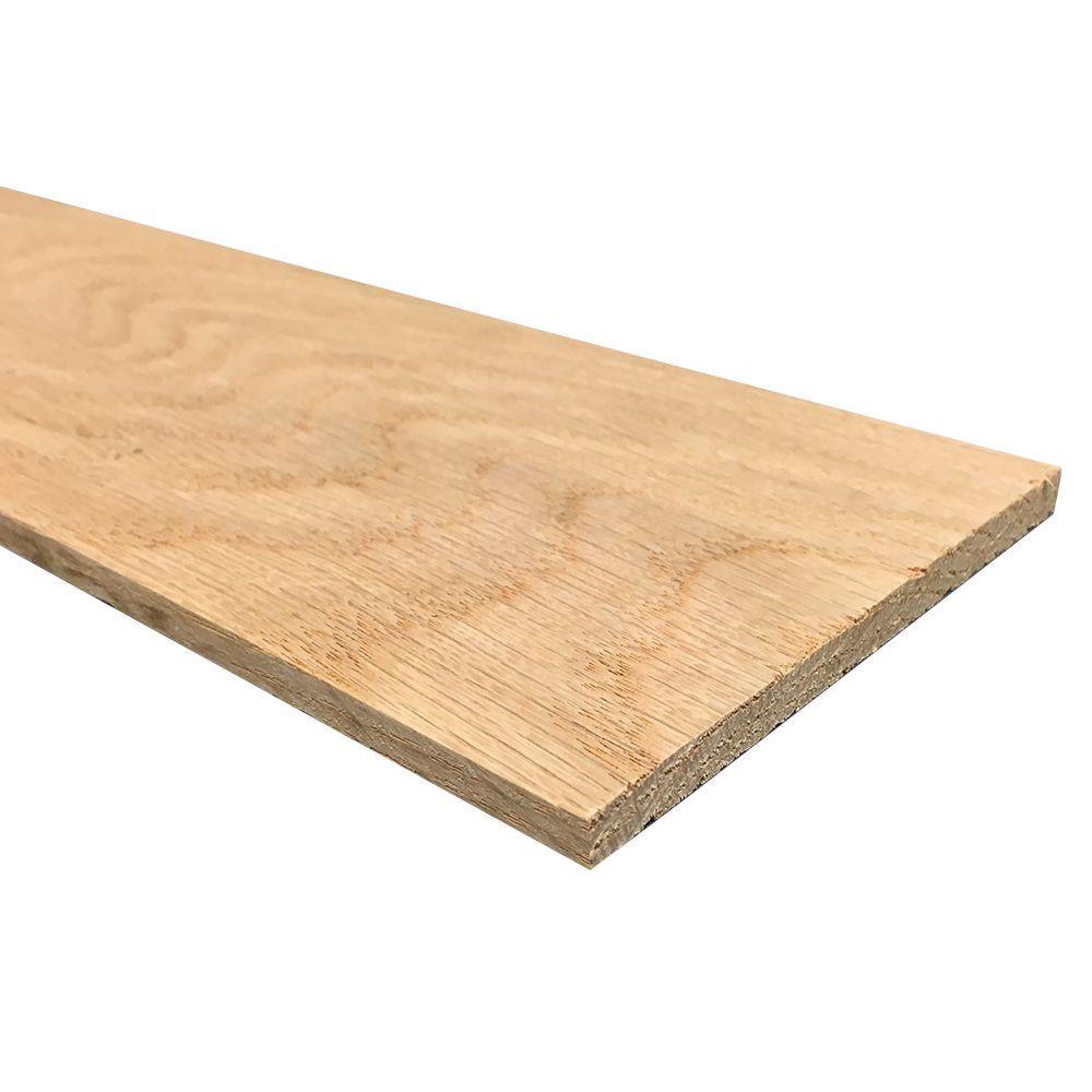 1/4 in. x 4 in. x 4 ft. S4S Oak Board