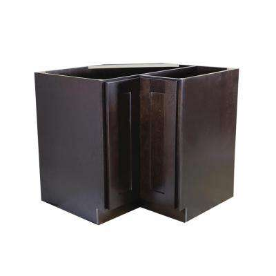Design House Brookings Ready to Assemble 36 x 34.5 x 24 inch Base Style Lazy Susan Cabinet in Espresso by Design House