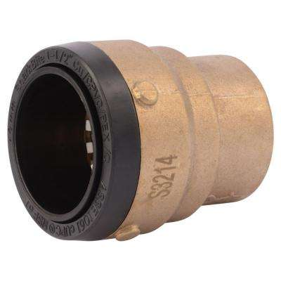 1-1/2 in. Brass Push-to-Connect End Cap