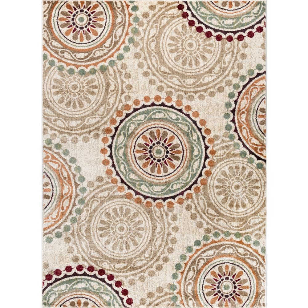 Deco Ivory 7 ft. 10 in. x 10 ft. 3 in.