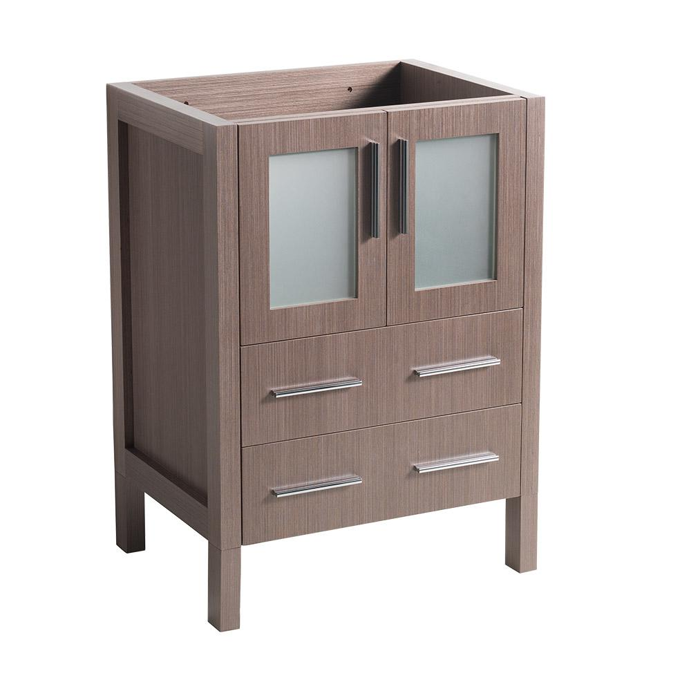 24 in. Torino Modern Bathroom Vanity Cabinet in Gray Oak