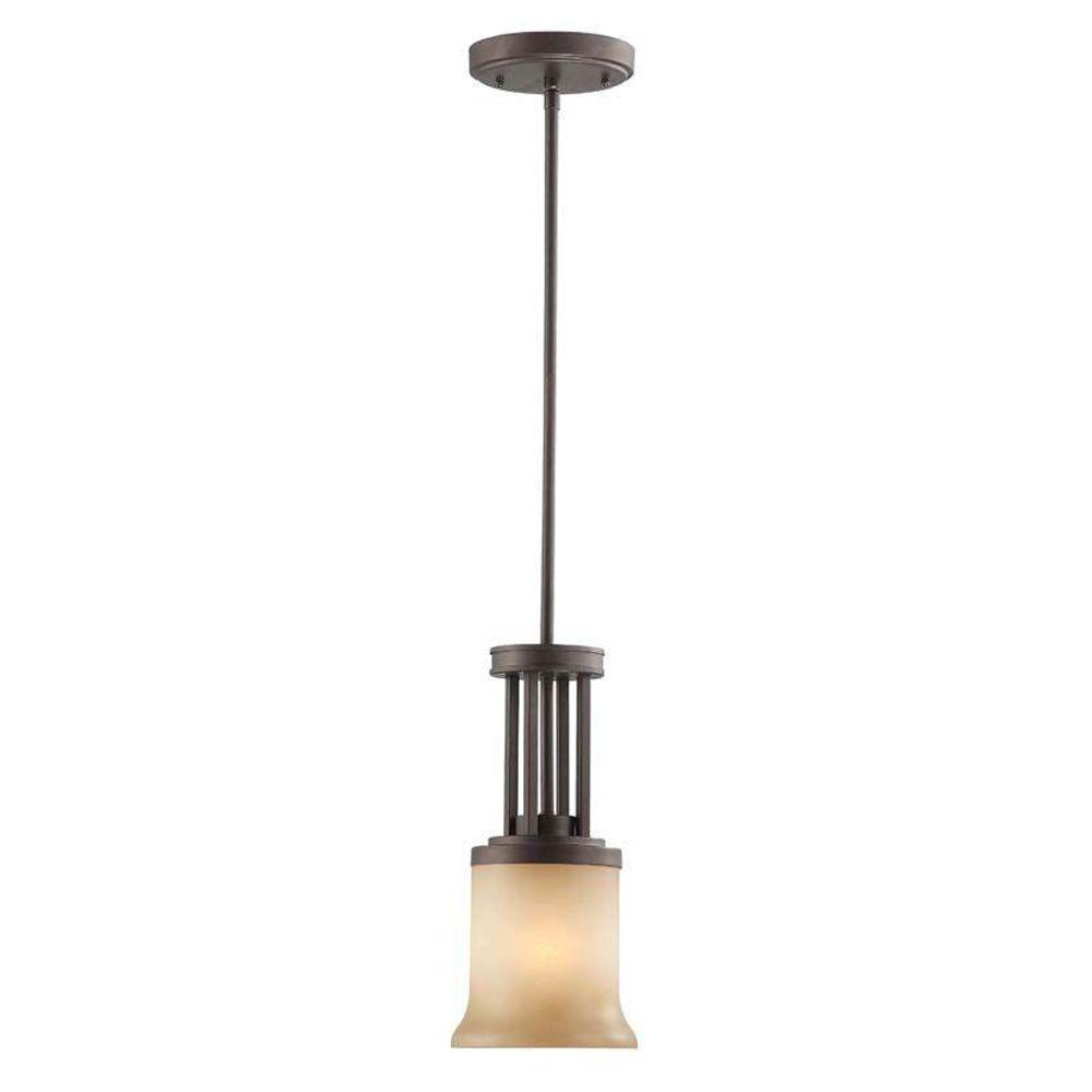 1light brushed nickel integrated led mini pendant with metal