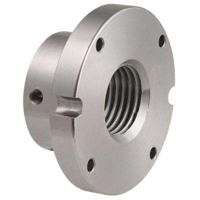 3 in. 80mm x 1-1/4 in. Thread Face Plate Lathe Accessory
