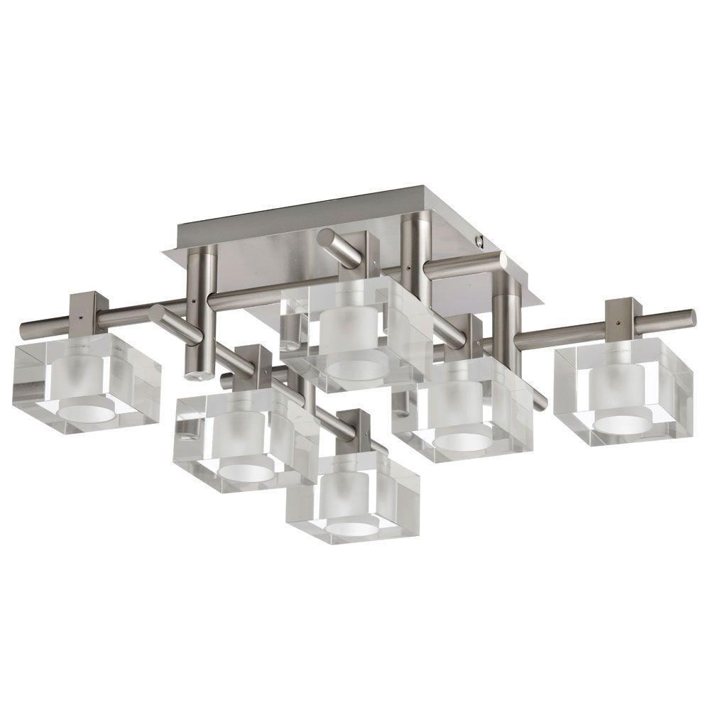 Filament Design Catherine 6-Light Satin Chrome Flush Mount