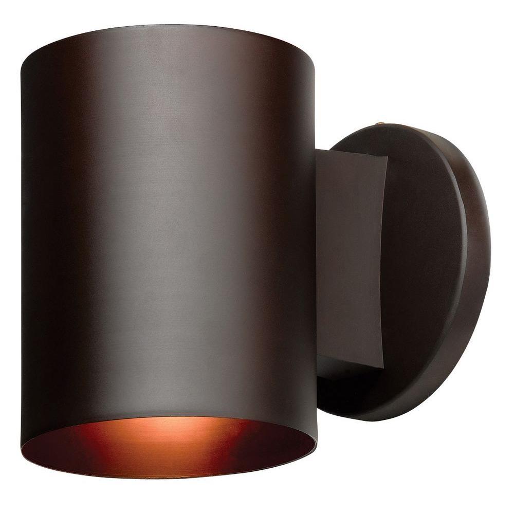 Access Lighting Poseidon 1-Light Bronze Metal Wall Lantern Sconce
