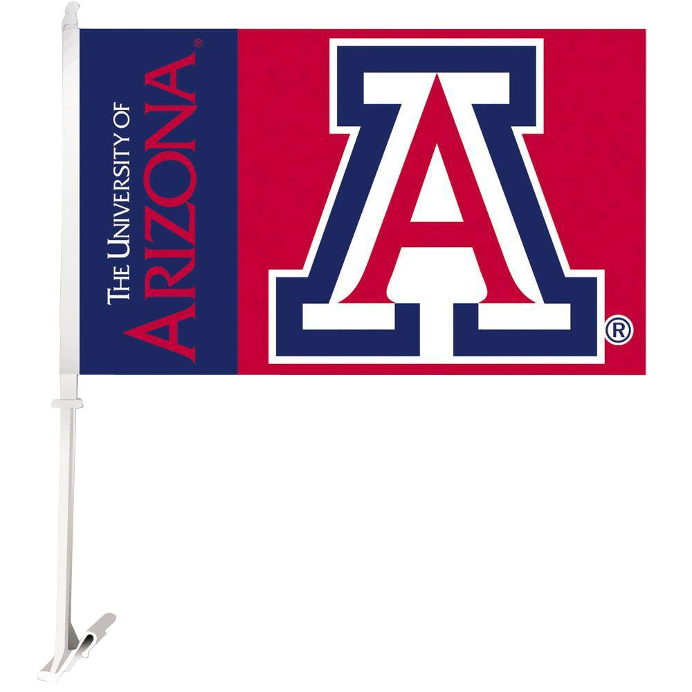 NCAA 11 in. x 18 in. Arizona 2-Sided Car Flag with
