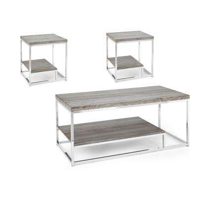 Lucia Gray 3-Pack Occasional Table Set