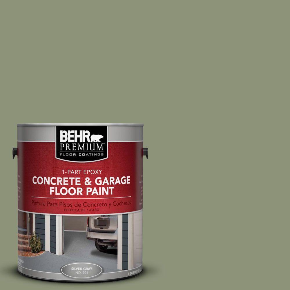 BEHR Premium 1-Gal. #PFC-39 Moss Covered 1-Part Epoxy Concrete and Garage Floor Paint