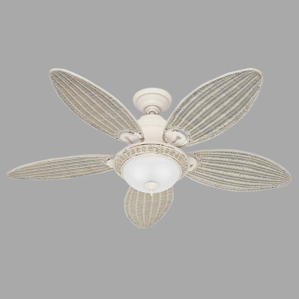 Hunter Caribbean Breeze 54 In Indoor Textured White