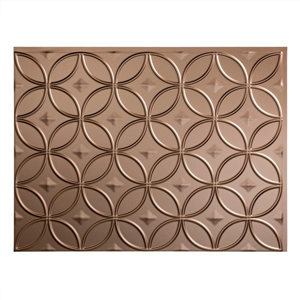 Fasade Ripple 18 In X 24 In Muted Gold Vinyl Decorative