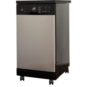 Front Control Portable Dishwasher In Stainless Steel With 8 Place Settings  Capacity SD 9241SS   The Home Depot