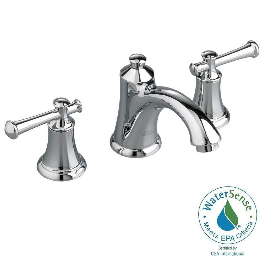Widespread 2 Handle Bathroom Faucet In Polished Chrome With