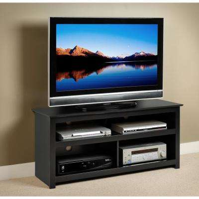 Vasari Black Storage Entertainment Center