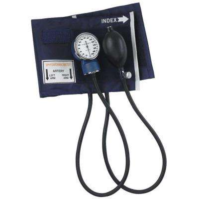 Economy Aneroid Sphygmomanometers with Blue Nylon Cuff for Large Adult