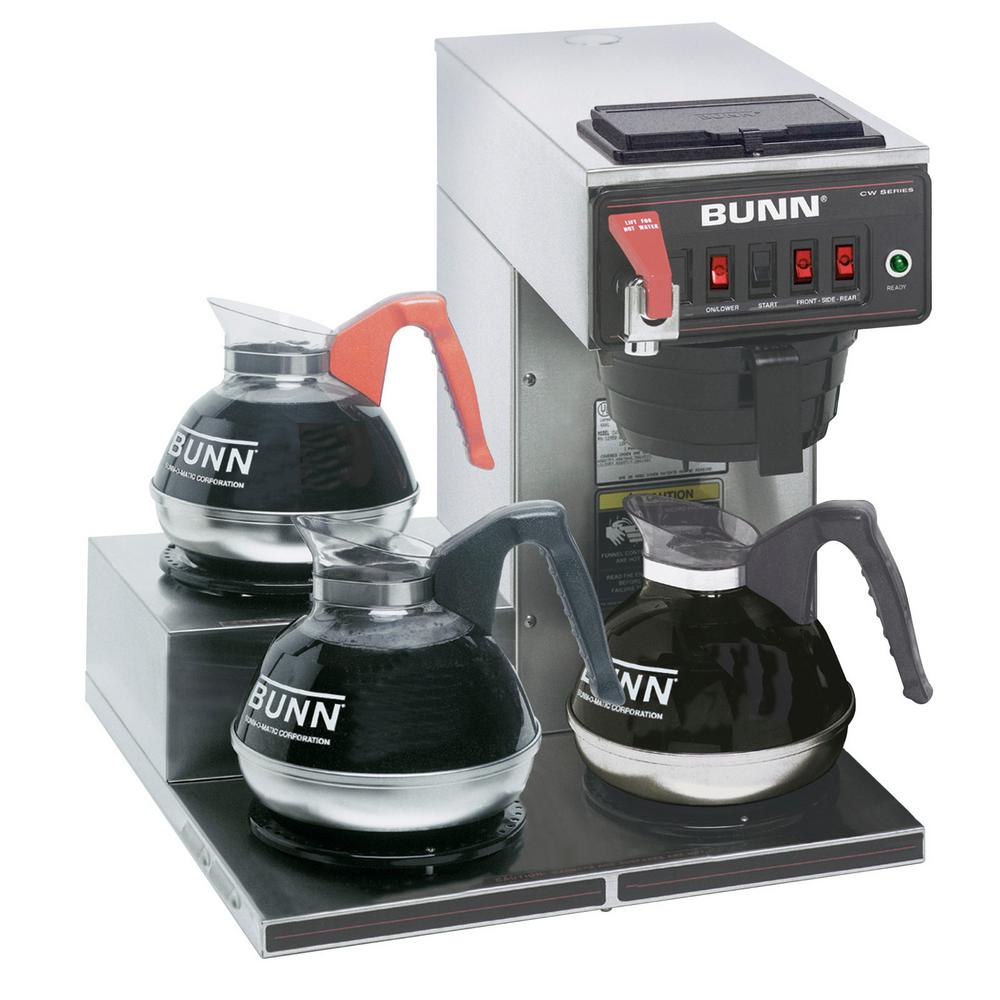 Bunn 12 Cup Automatic Commercial Coffee Brewer And 3 Warmers