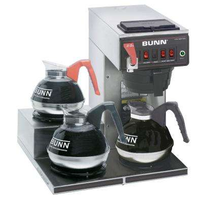 12-Cup Automatic Commercial Coffee Brewer and 3-Warmers