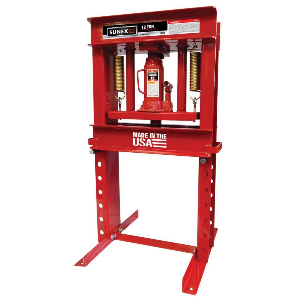 12-Ton Bench Top Shop Press