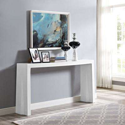 Wash White Console Table