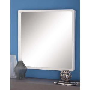 White Framed Wall Mirror home decorators collection chelsea 26 in. w x 35 in. l framed wall