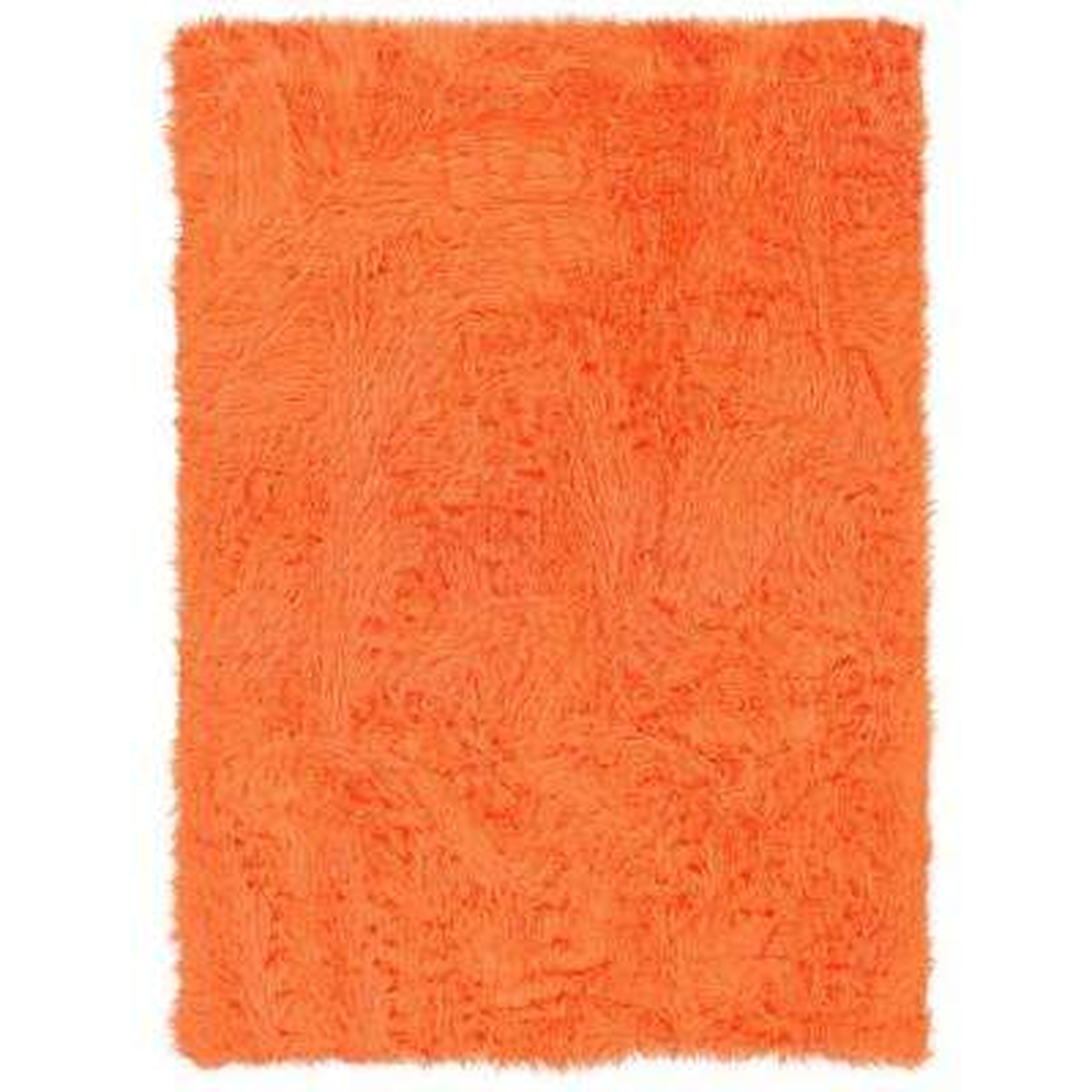 Faux Sheepskin Orange 5 ft. x 7 ft. Indoor Area Rug