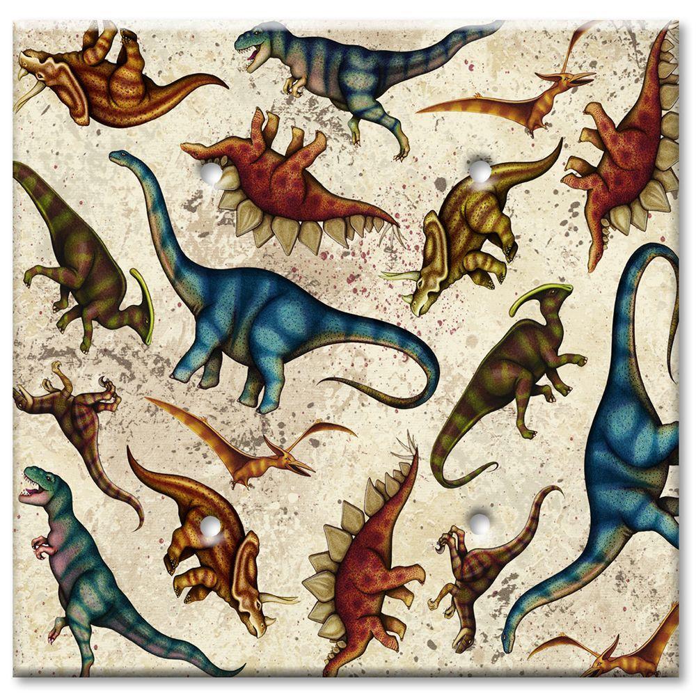 Art Plates Dinosaurs 2 Blank Wall Plate